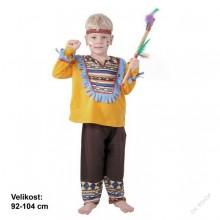 Dětský karnevalový kostým indián TAŠUNKA 92 - 104cm ( 3 - 4 roky )